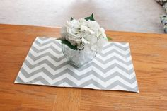 Hunt it down by Faby Galaz and Hugo Gallegos on Etsy Small Centerpieces, Wedding Centerpieces, Wedding Table, Chevron Home Decor, Coffee Table To Dining Table, Gender Reveal Decorations, Grey And White, Gray, Square Tables