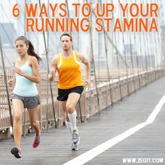 6 Ways to up your running stamina now that it is running season. Marathon training, half marathon training, 5k training