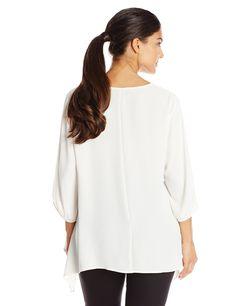 Karen Kane Women's Plus Size Fashion White Uneven Hem Top available at Amazon Women's Clothing Store #Karen_Kane #White #Uneven #Hem #Plus_Size #Top #Fashion #Amazon #Womens_Clothing #Plus_Size_Fashion