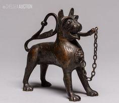 ~ German antique bronze aquamanile