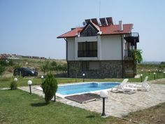 For sale two semi-detached fully furnished three-storey houses 4 km from the beach in Sunny Beach Resort, Nesebar municipality, Burgas Region