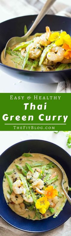 A healthy, easy and delicious Thai Green Curry with shrimp whipped up in only 20 minutes. One of my favorite summer recipes (diabetes friendly, low carb, gluten free, dairy free)