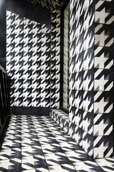 ROW studio tiles cuvier 83 building with houndstooth facade