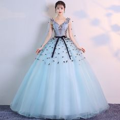 Stylish v neck tulle applieque long prom dress, evening dress · Dress idea · Online Store Powered by Storenvy Cheap Evening Dresses, Cheap Prom Dresses, Stylish Dresses, Sweet 16 Dresses, Pink Mini Dresses, Pretty Dresses, Red Wedding Dresses, Bridal Dresses, Tulle Prom Dress