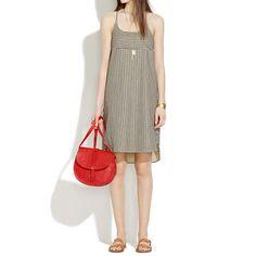 $118.00 Cami Shiftdress in Ticking Stripe | Madewell