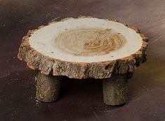 Real Wood Unique Newborn / Doll Log End Table Photo Photography Prop