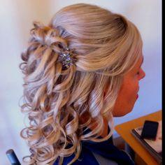 Half Up Half Down Curls Bridal Wedding Hair