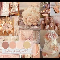 Rose, Gold and Blush wedding theme with a touch of... | Wedding Obsession!