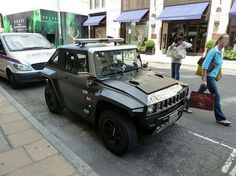 MEV HUMMER HX in Matte Black with the security system additional option spotted in central London