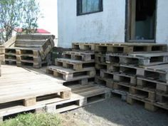 Terrace Made of 163 Recycled Pallets Terraces & Patios