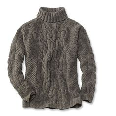 Irish Fisherman Sweaters for Men | donegal cable turtleneck sweater this turtleneck sweater is made from ...