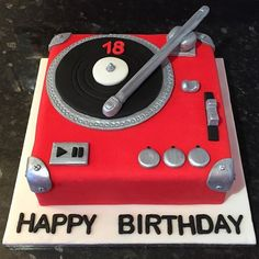 Image result for record player birthday cakes