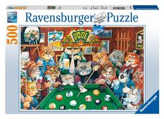 Pool Hall Cats Jigsaw Puzzle, 500-Piece - List price: $13.99 Price: $10.49 Saving: $3.50 (25%) + Free Shipping