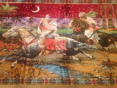 """$69.99 Vintage Persian Arabian Horse Wall Hanging Tapestry 80"""" X 48"""" #tapestry"""