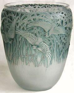 Lalique, Aigrettes vase c.1926