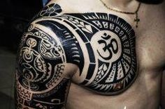 9080d40bc Tattoo on shoulder is a brutal tattoo. A great choice for a sleeve tattoo as