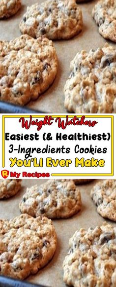 Easiest (And Healthiest) Cookies You'Ll Ever Make – My Recipes Banana Recipes, Ww Recipes, Cooking Recipes, Recipies, Slimming Recipes, Cooking Tips, Ww Desserts, Healthy Desserts, Dessert Recipes