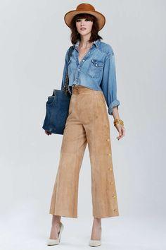 Vintage Chanel Gradignan Suede Pants