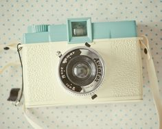 Vintage Camera Diana Camera Photography Print - Pretty in Pastels Diana - Cream Turquoise Polka Dot Retro Camera Wall Art Aqua Camera Art Still Life - Antique Cameras, Old Cameras, Vintage Cameras, Mae West, Camera Photography, Vintage Photography, Pregnancy Photography, Photography Tips, Landscape Photography