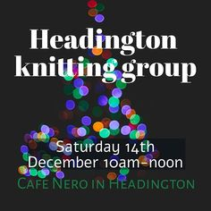 December's knitting group meeting will be in a week on saturday - Saturday qrth December at Cafe Nero in Headington from 10am till noon. We have an ongoing policy of not tolerating bigotry of any kind (race religion size gender or orientation) so that all members and potential members can feel safe and welcomed. The cafe is easy to get to by bus and there is parking nearby on st leonards road or at Waitrose.  i hope to see you there!  #indiedyer #yarn #yarnlove #bfl #indiedyersofinstagram…
