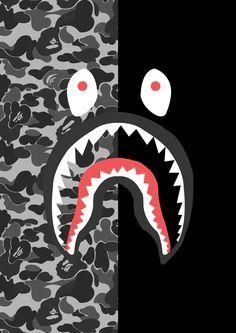 Resultado de imagen para bape shark logo Bape Shark Wallpaper, Bape Wallpaper Iphone, Camo Wallpaper, More Wallpaper, Tumblr Wallpaper, Cartoon Wallpaper, Wallpaper Backgrounds, Bape Wallpapers, Sketch Manga