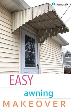 Our Garage Door Makeover – I'm so thrilled to share with you guys this DIY project. Diy Awning, Metal Awning, Life Hacks, Diy Pallet Sofa, Diy Wall Shelves, Mason Jar Lighting, Door Makeover, Diy Home Decor Projects, Fall Projects