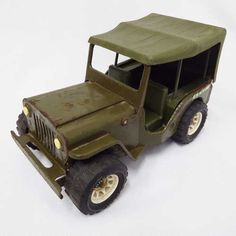 Vintage Toys - Vintage Tonka pressed steel Army Jeep for sale in Cape Town… Cape Town, Vintage Toys, Wooden Toys, Jeep, Army, Wooden Toy Plans, Gi Joe, Old Fashioned Toys, Wood Toys