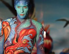 The Samui International Body Painting Competition at the resort island of Koh Samui, Surat Thani province southern Thailand