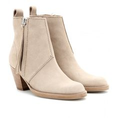 Acne Studios Pistol Short Suede Ankle Boots found on Polyvore
