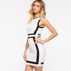 Party Sexy O-neck Bodycon Mini Dress