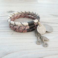 Silk Road Gypsy Bangle Stack  Chilas  3 Bohemian by GypsyIntent, $30.00