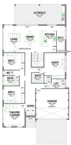 Affordable 2 Storey Canal Homes | Rear Living Canal Homes in Mandurah | Perth | Bunbury | Busselton | The Yunderup Home Design Brunei Travel, House Plans, Floor Plans, Image House, How To Plan, Rear View, Australia, House Design, Flooring
