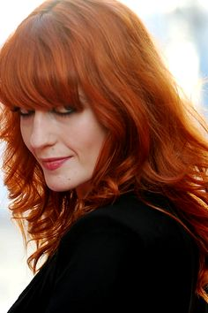 Florence Welch media gallery on Coolspotters. See photos, videos, and links of Florence Welch. Florence Welsh, Thick Bangs, Long Hair With Bangs, Thick Hair, Color Your Hair, Red Hair Color, Hair Colors, Gorgeous Redhead, Gorgeous Hair