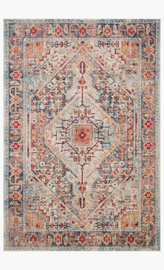 BLUE / FIESTA , < A modern foundation for any room. Thanks to a polypropylene pile, the Nour rug doesn't shed and will remain colorfast and stain-resistant in ev. Bohemian Living, Bohemian Rug, Living Room Carpet, Rugs In Living Room, Cream Couch, Big Rugs, Blue Couches, Nour, Farmhouse Rugs