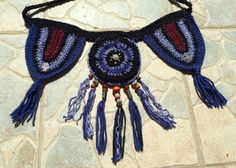 Crochet pocket belt / utility belt / festival wear by HorizonsEd3e