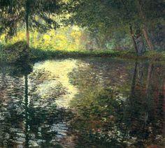 The Pond at Montgeron, 1876, Claude Monet