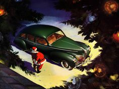 Ad From The Ford Motor Company: Santa's 1941 Lincoln