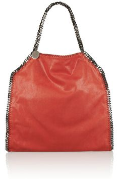 The Falabella faux brushed-leather tote by Stella McCartney