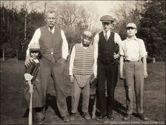 Doyle with his children Jean, Adrian and Denis enjoy an afternoon of cricket.