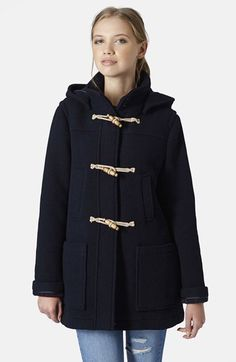 Loving this navy hooded duffle coat. | @nordstrom #nordstrom
