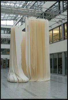 Angela GLAJCAR #installation #art #sculpture #paper