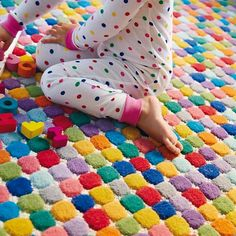 Jellybean rug. Colorful, hand-tufted rug that's great for a playroom or kid's room.