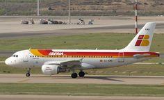 El EC-KMD de @Iberia Líneas Aéreas un #A319 rodando por el Adolfo Suárez Madrid-Barajas. pic.twitter.com/a7uXdVFWax