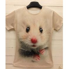Stylish Round Neck Mouse Print Short Sleeves Polyester White T-shirt For Men Long Sleeve Tee Shirts, Mens Tee Shirts, Kinds Of Clothes, Clothes For Women, Wholesale T Shirts, I Love Fashion, Printed Shorts, Pretty Dresses, Autumn Winter Fashion