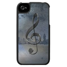 Steel Metal-effect Music-lover iPhone 4/4S Case just in time for a #Christmas #Gift