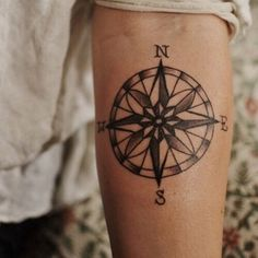A Compass | The 34 Kinds Of Tattoos That Look Insanely Hot On Guys