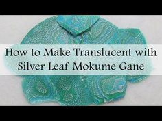 How to Make Translucent with Silver Leaf Mokume Gane - YouTube