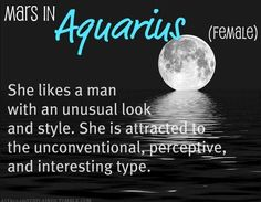 AQUARIUS haha this explains my taste in guys 0.o