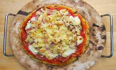 Syn Free Mash / Smash Pizza Recipe - Slimming World Pizza Recipes, Diet Recipes, Diet Meals, Pancake Pan, Pineapple Slices, Chorizo Sausage, Garlic Salt, Slimming World Recipes