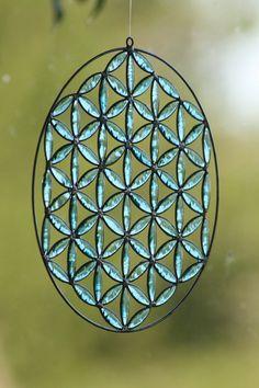 Atrapasol de la flor de la vida mandala geometrya por Mownart
